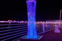 Lighted Acrylic Column Rental Las Vegas