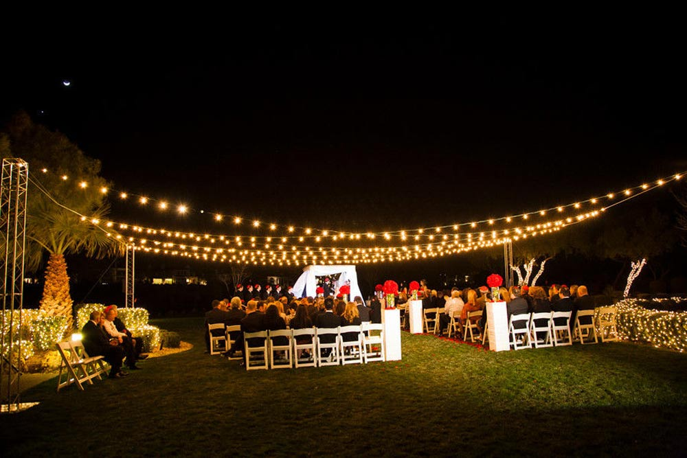 Wedding Lighting Red Rock Country Club